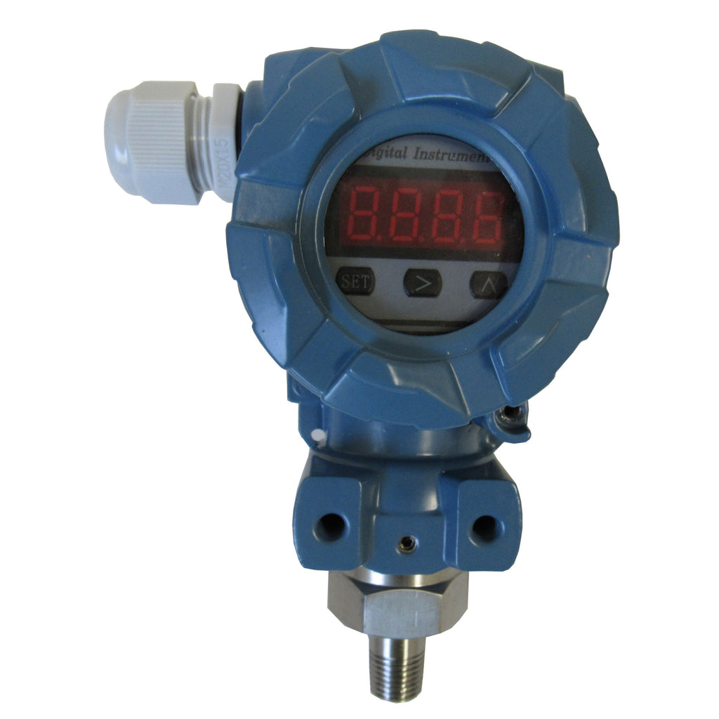 PRM XP Pressure Transmitter with LCD Display, 0-50 PSI, 1/4 Inch MNPT, 316 SS, 4~20 mA, 24 VDC
