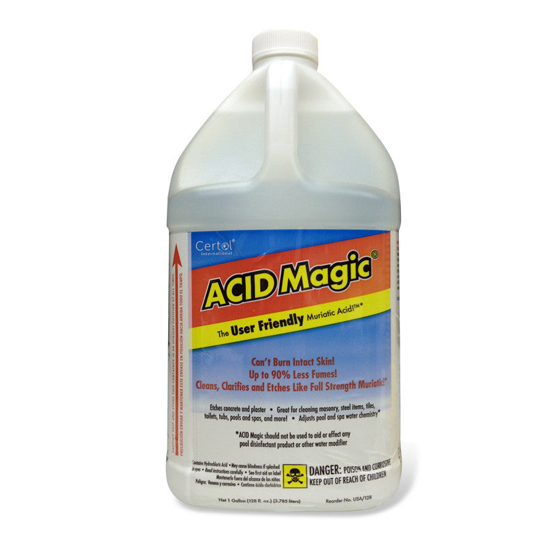 acid magic® - buffered muriatic acid - case of (4) 1 gallon jugs ...