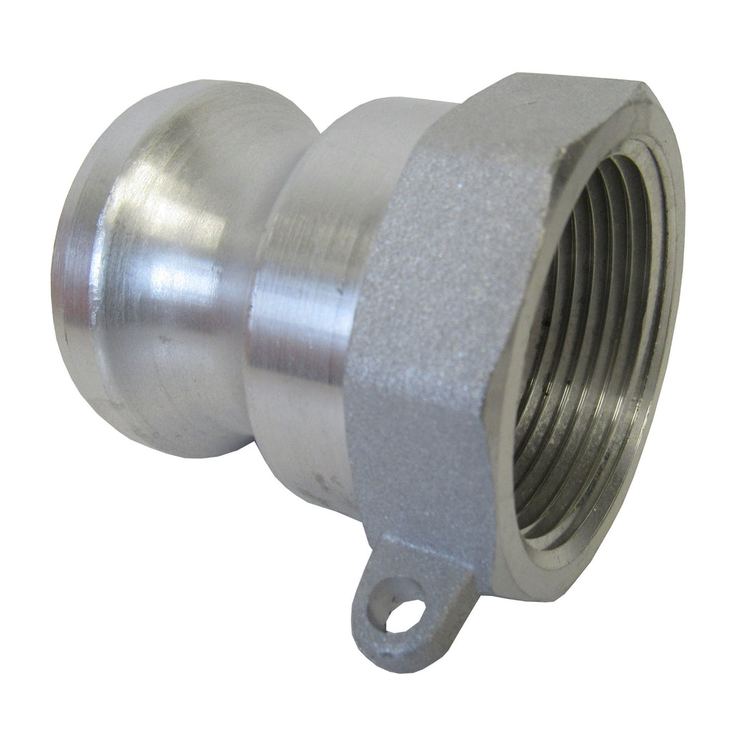 Aluminum Cam & Groove Fitting A100 Male Camlock X Female NPT Thread - 1 Inch