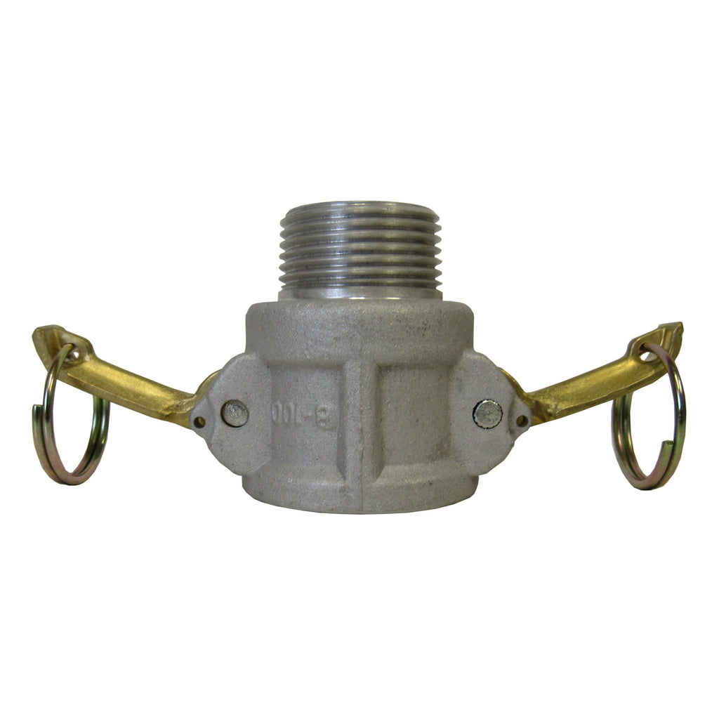 Aluminum Cam & Groove Fitting B600 Female Camlock X Male NPT Thread - 6 Inch