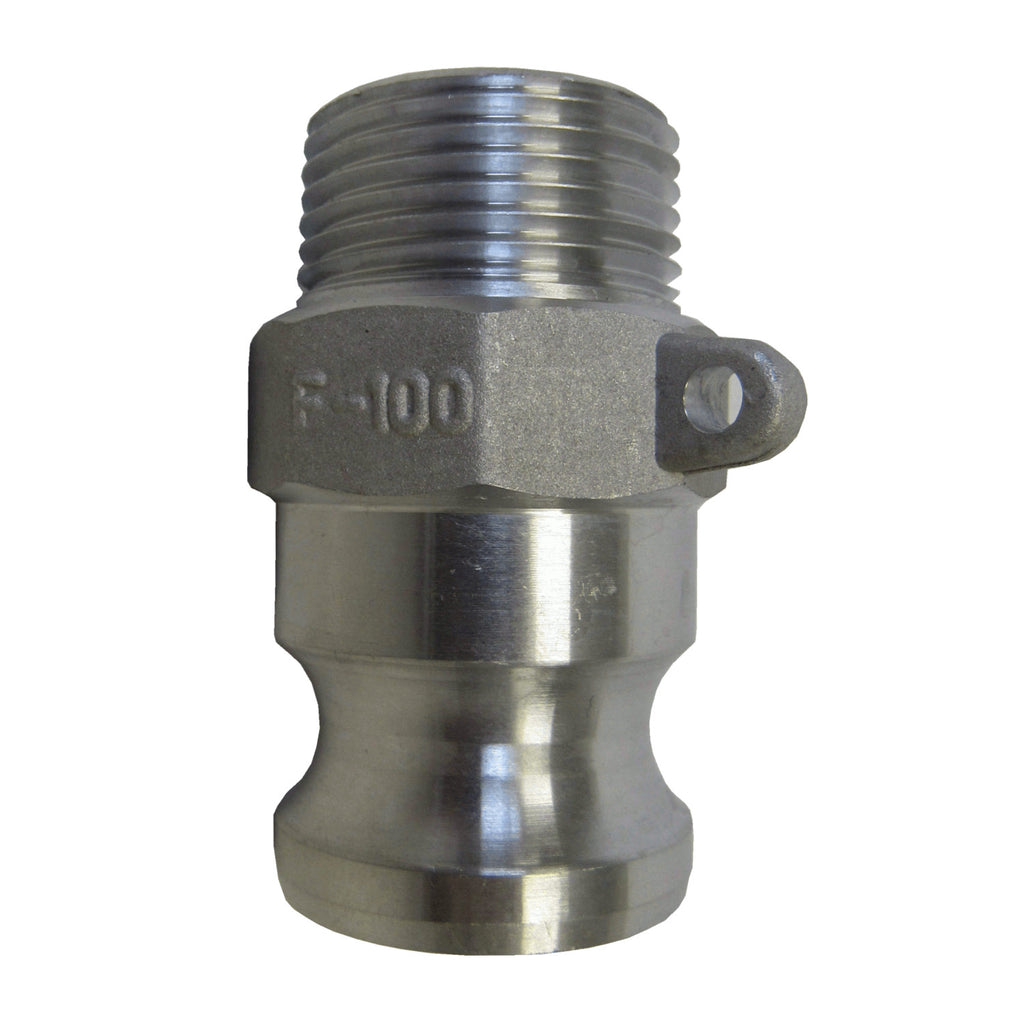 Aluminum Cam & Groove Fitting F125 Male Camlock X Male NPT Thread - 1-1/4 Inch