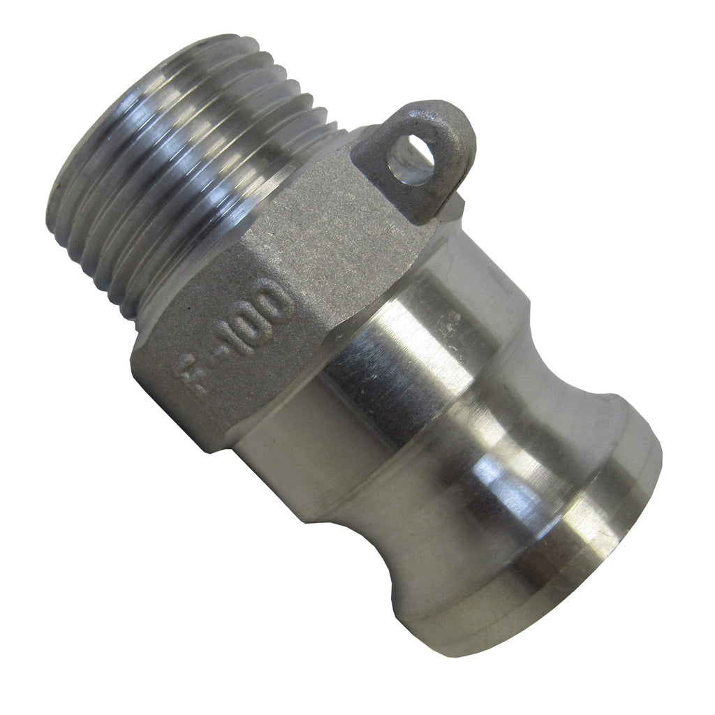 Aluminum Cam & Groove Fitting F600 Male Camlock X Male NPT Thread - 6 Inch
