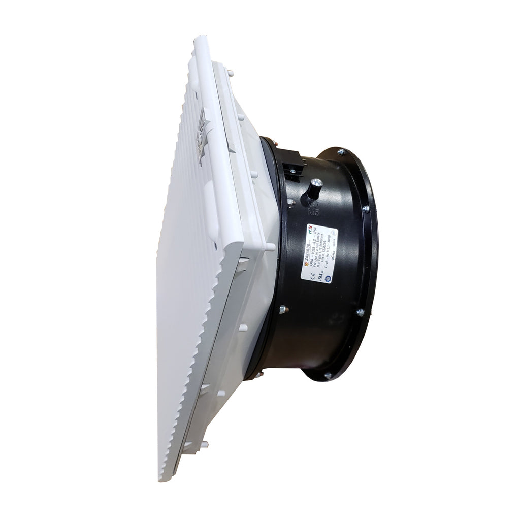 Zanardo ARIAV-250W 10 Inch Fan with Filter for Control Panel Enclosures, 115V, 1 Phase