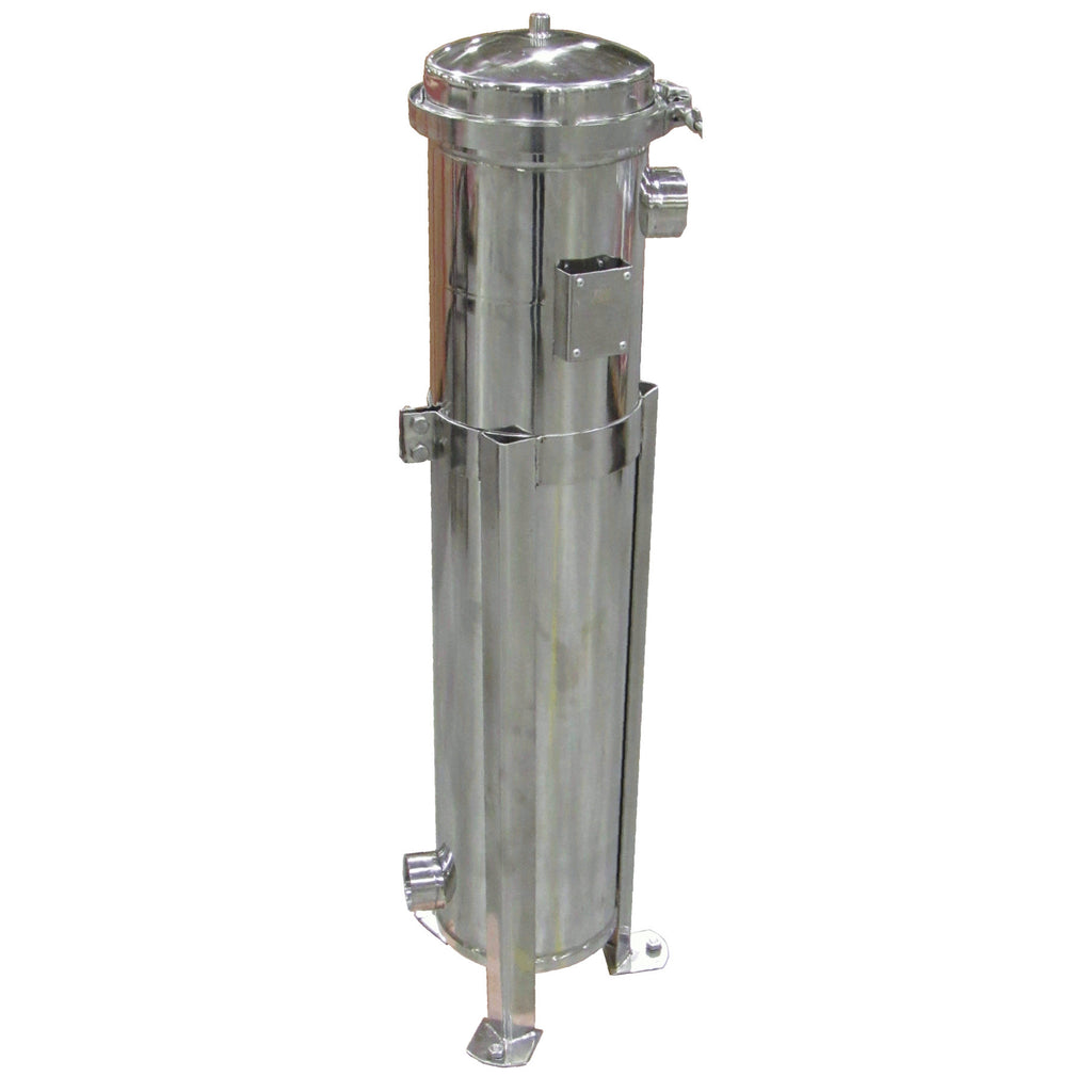 PRM #2 Stainless Steel Bag Filter Housing, 2 Inch NPT In/Side Outlet, 100 psi