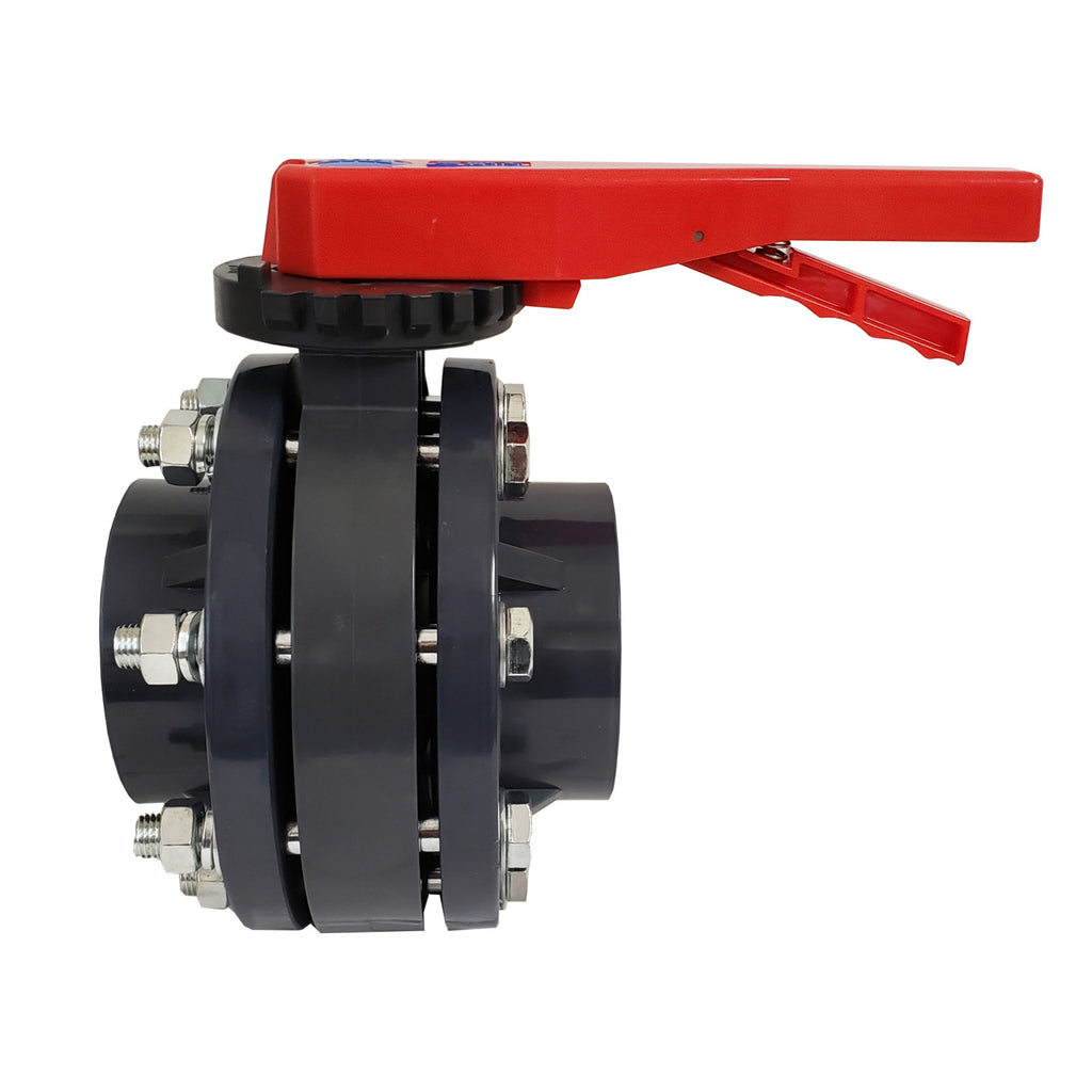 ERA Sch 80 PVC 8 Inch Butterfly Valve Kit, With Flanges and Hardware