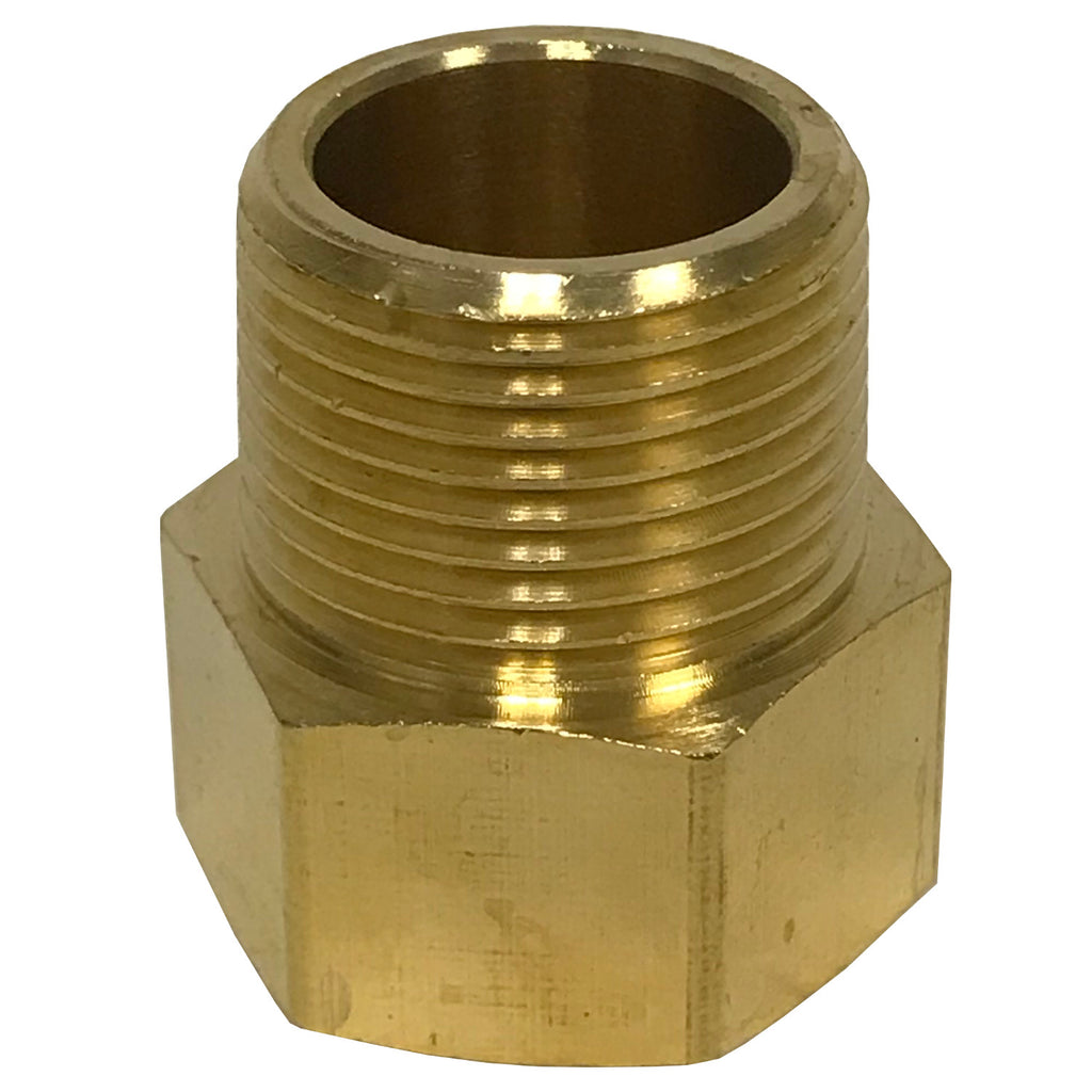 Brass Adapter - 1/2 Inch NPT Female X 1/2 Inch BSPP Male