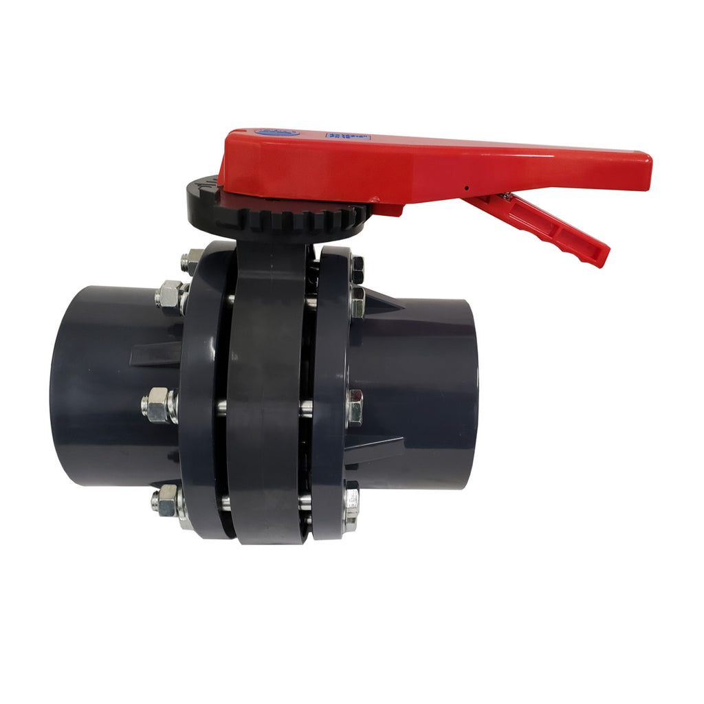 ERA Sch 80 PVC 2 Inch Butterfly Valve Kit, With Flanges and Hardware