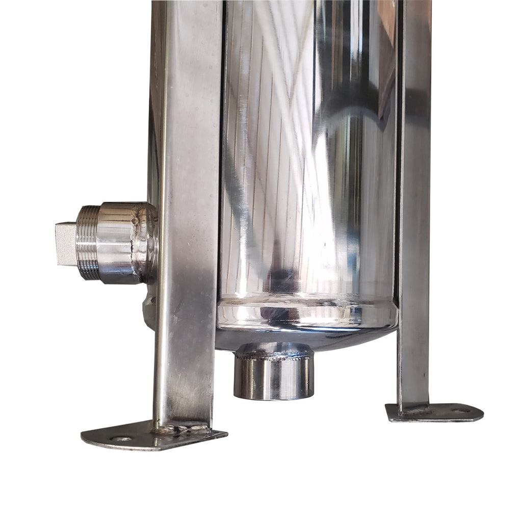 PRM #2 304 Stainless Steel Bag Filter Housing, 2 Inch NPT Inlet, Dual Side or Bottom 2 Inch NPT Outlet, 150 psi