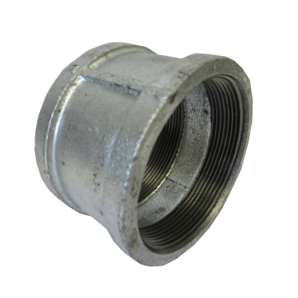 Galvanized Straight Coupling, 1/2 Inch NPT Thread