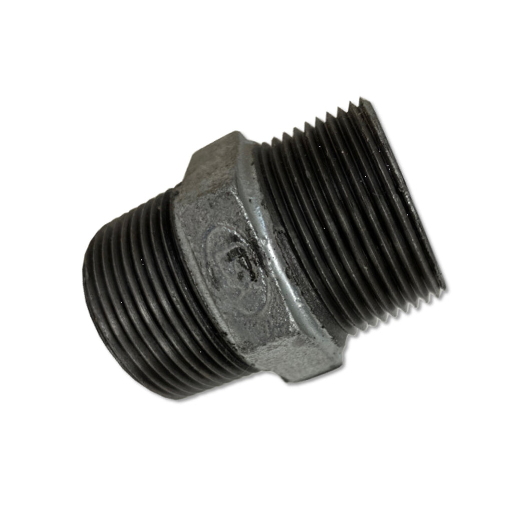TSX 1-1/4 Inch Galvanized Malleable Iron Hex Nipple