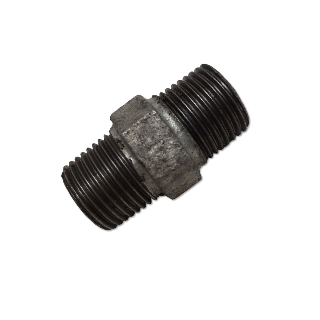 TSX 1/2 Inch Galvanized Malleable Iron Hex Nipple