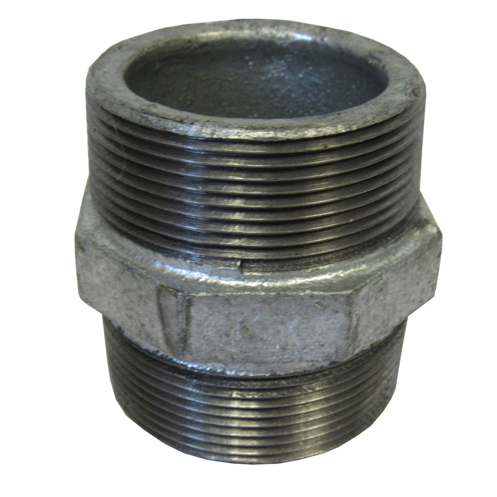 Galvanized Hex Nipple - 2 Inch