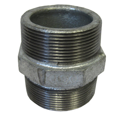Galvanized Hex Nipple - 2-1/2 Inch