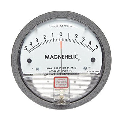 Dwyer 2100 Magnehelic® Differential Pressure Gauge - 0-100 Inches Of Water