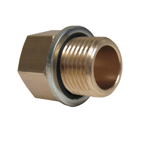 Brass Adapter - 3/8 Inch NPT Female X 3/8 Inch BSPP Male with Sealing Washer