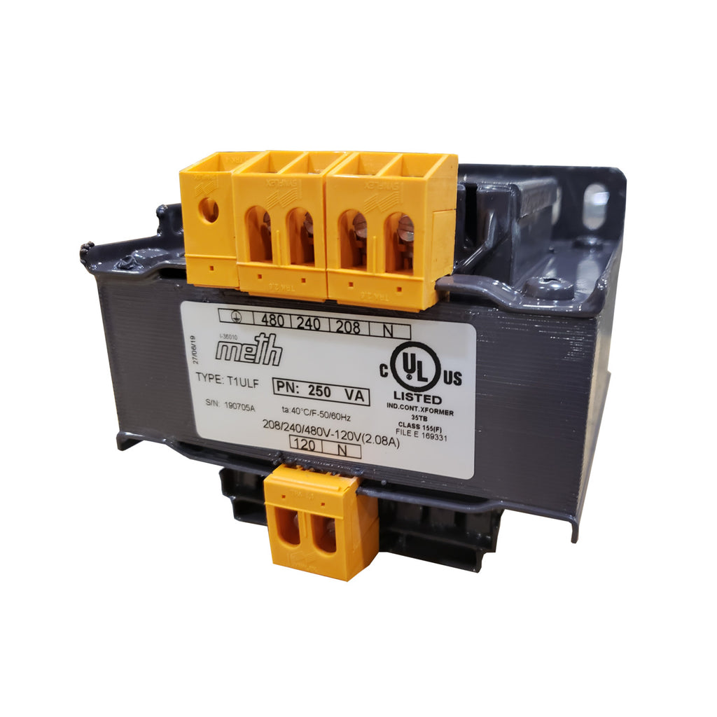 Tecnomatic Panel Mount T1ULF Multi Voltage Control Transformer 250VA, Single Phase, UL Listed