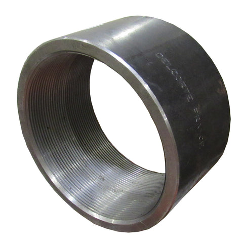Black Steel Sch 40 Coupling, Female NPT Thread - 1-1/2 Inch