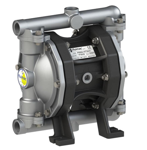 "Fluimac Phoenix P50 Air Operated Double Diaphragm Pump - AL Body - 1/2"" FNPT - 18.5 GPM - EPDM Seals"