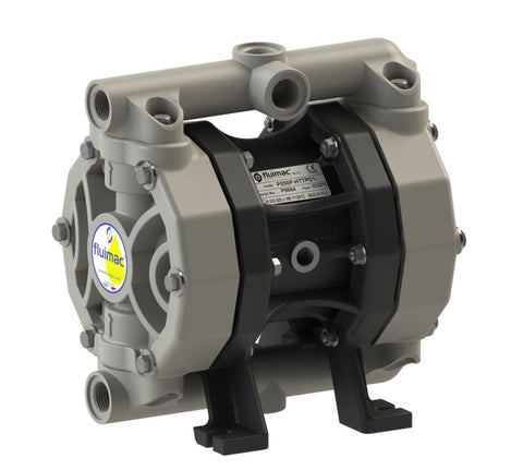 "Fluimac Phoenix P50 Air Operated Double Diaphragm Pump - PP Body - 1/2"" FNPT - 18.5 GPM - EPDM Seals"