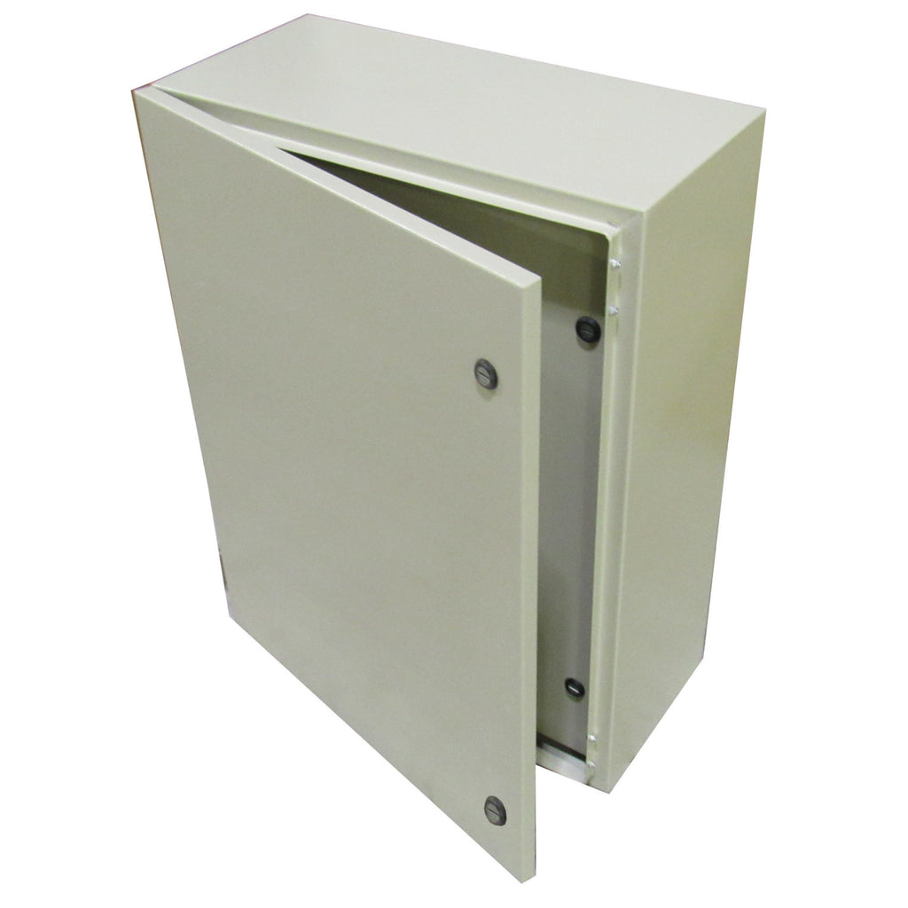 Tecnomatic Panel Enclosure, 24 X 24 X 10 with Dead Front and Back Plate, Powder Coated, 28177-PD