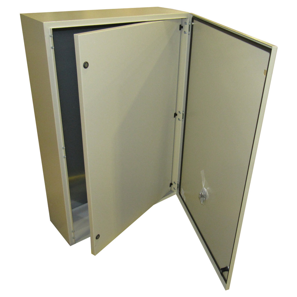 Tecnomatic Panel Enclosure, 48 X 32 X 12 with Dead Front and Back Plate, Powder Coated, 28260-PD