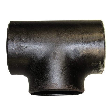 Black Steel Sch 40 Straight Tee, Butt Weld - 2 Inch