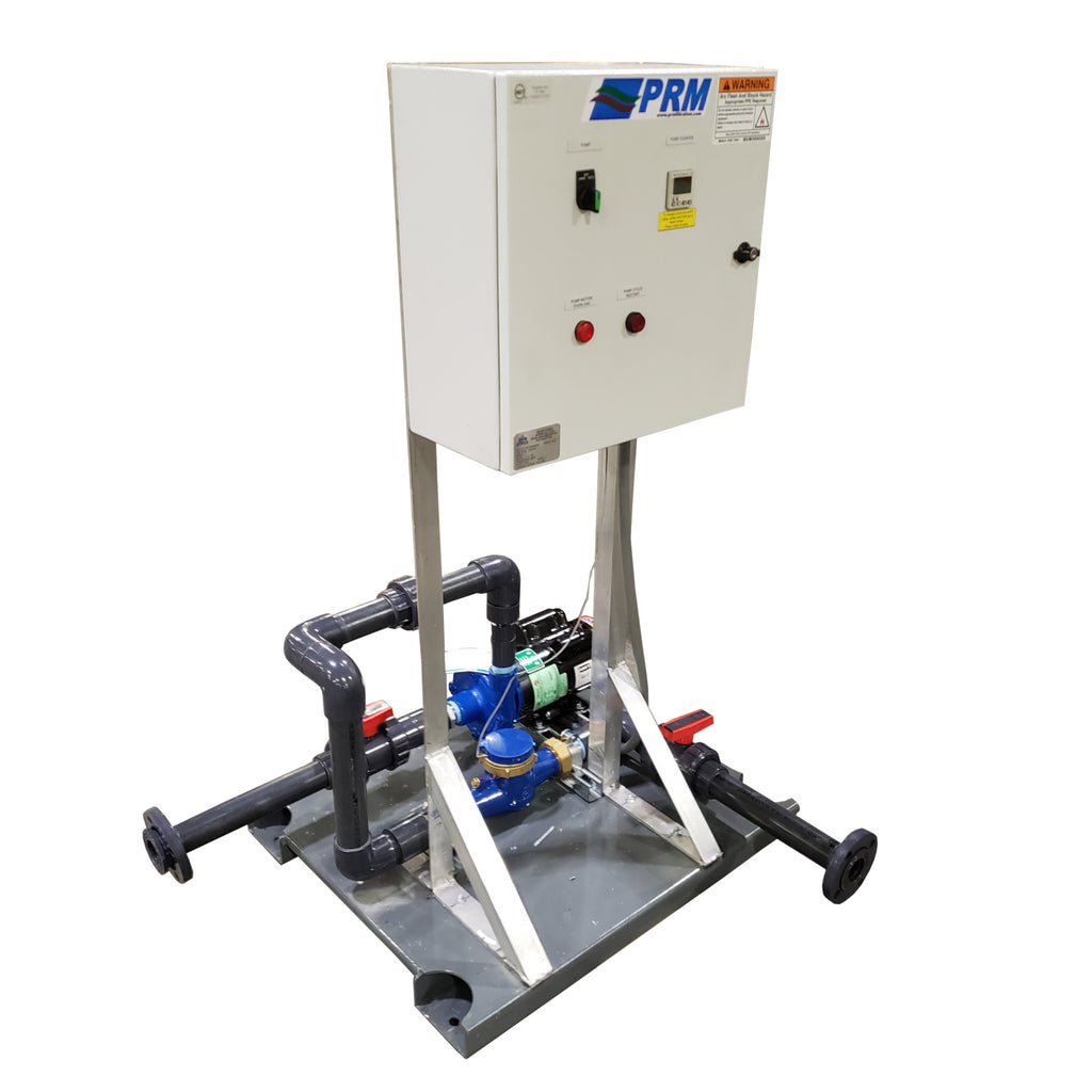 Skid Mounted Pump System With Control Panel