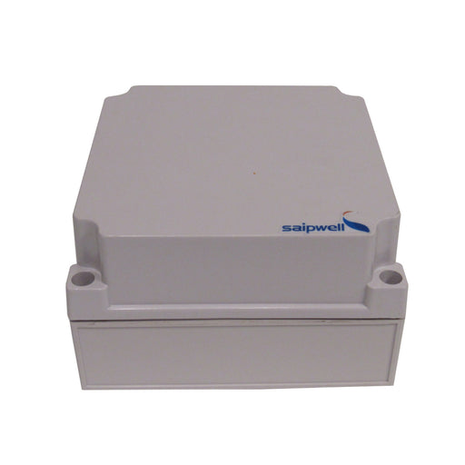 "SAIPWELL 6"" x 6"" x 4"" PVC WEATHERPROOF JUNCTION BOX WITH MOUNTING PLATE"