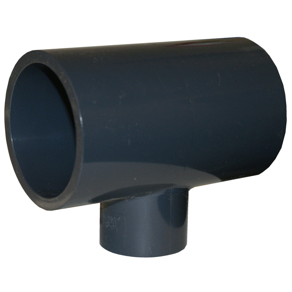 ERA SCH 80 PVC REDUCING TEE - 1-1/4 INCH X 1-1/4 INCH X 1 INCH SOCKET CONNECT
