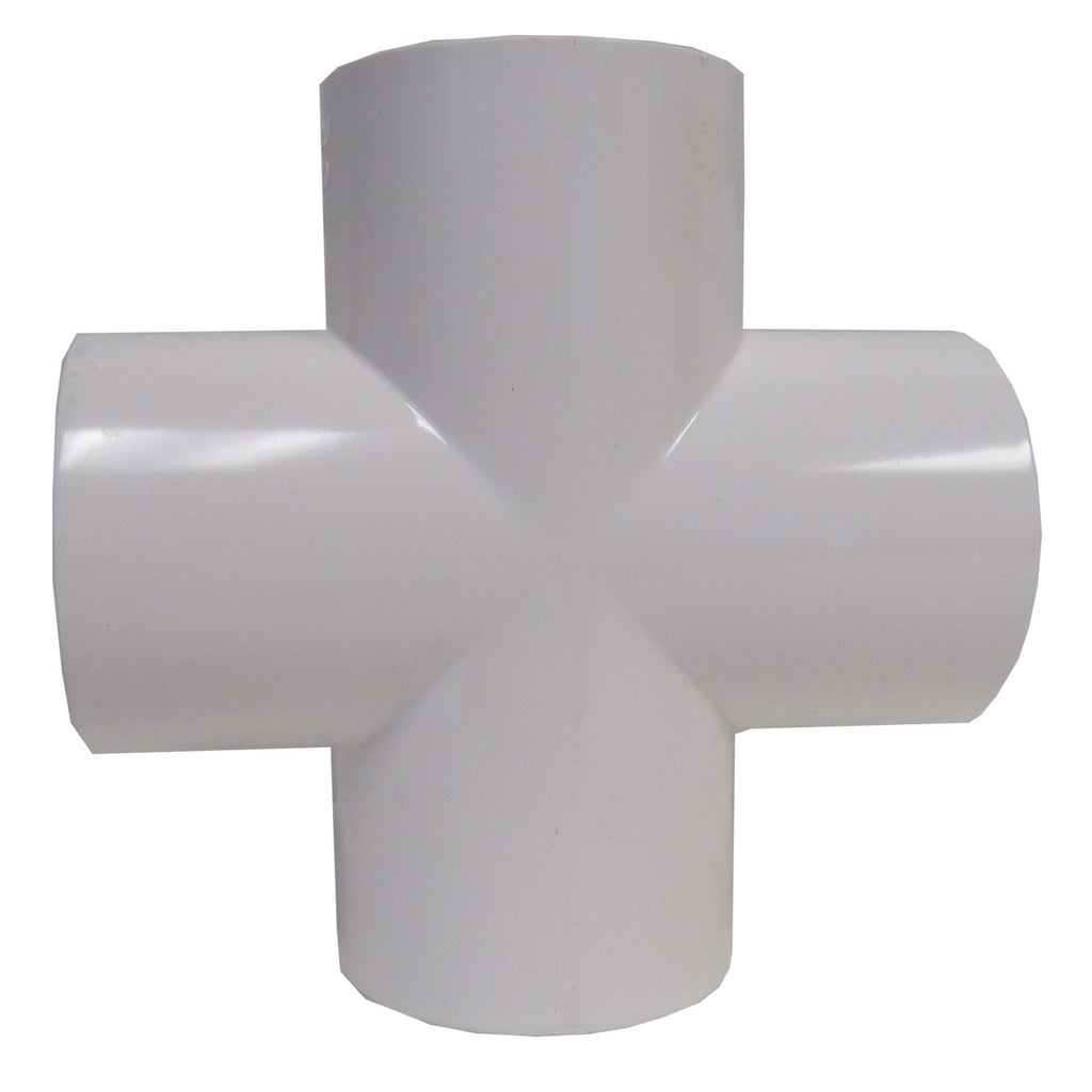 ERA Sch 40 PVC 2 Inch Cross, Socket