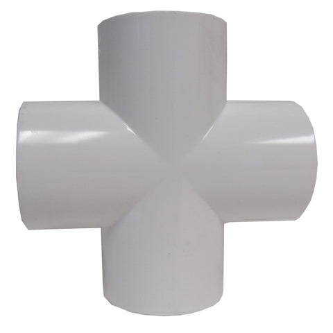 ERA SCH 40 PVC - CROSS - 2 INCH SOCKET CONNECT