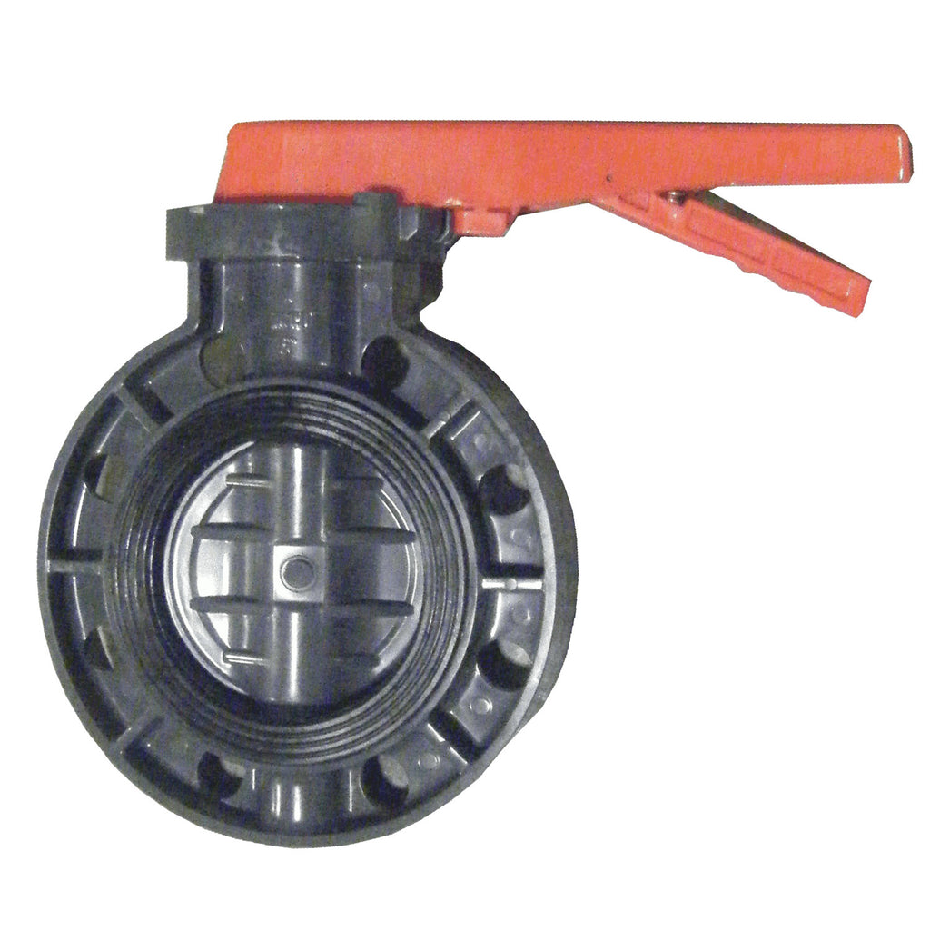 ERA Sch 80 PVC 4 Inch Butterfly Valve, Lever Handle