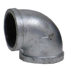 Galvanized 90 Degree Elbow, 3 Inch Female NPT Thread