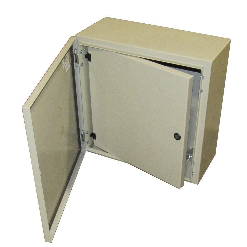 Tecnomatic Panel Enclosure, 20 X 20 X 8 with Dead Front and Back Plate, Powder Coated, 28135-PD