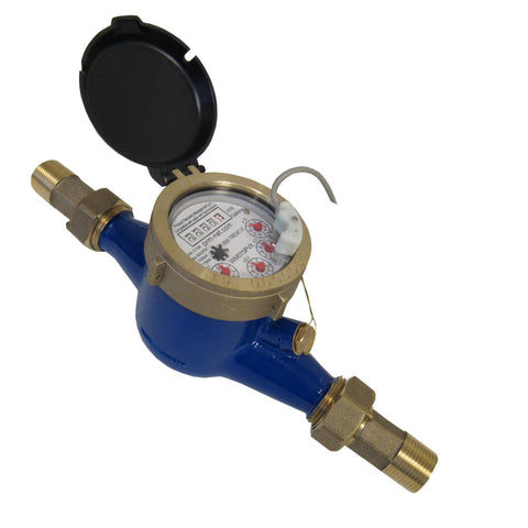 PRM MULTI-JET BRASS WATER METER WITH PULSE OUTPUT - 1/2 INCH