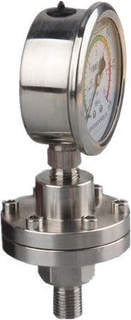 PRM Pressure Gauge, 0-300 PSI - 2.5 Inch Stainless Steel Case, Internals, and Diaphragm Protector, 1/4 Inch NPT Bottom Mount