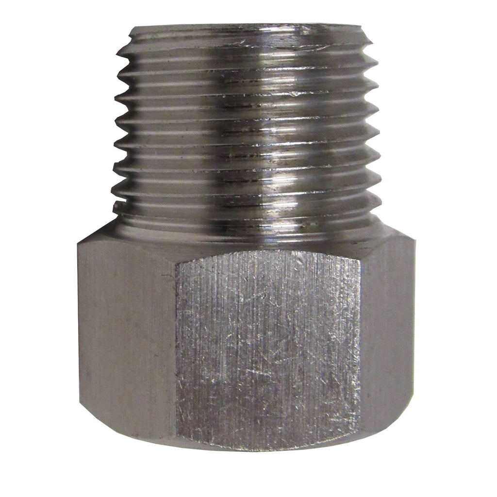 Stainless Steel Adapter, 1/2 Inch NPT Female X 1/2 Inch BSPP Male