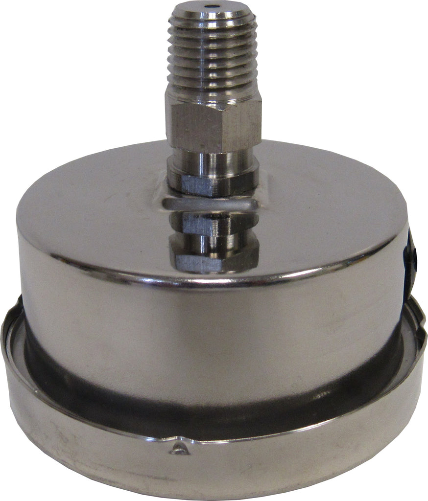 PRM Pressure Gauge, 0-30 PSI - 2.5 Inch Stainless Steel Case and Internals 1/4 Inch NPT Back Mount