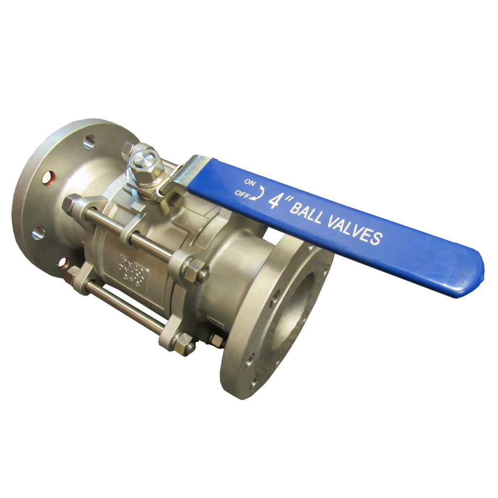 STAINLESS STEEL FULL PORT BALL VALVE, 3 PIECE, 150# FLANGE- 1 INCH