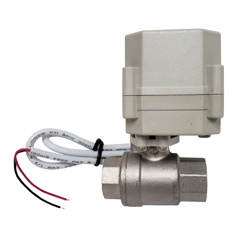 Electric Actuated 1/2 Inch NPT 304 Stainless Steel Ball Valve, 24VDC