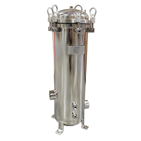 "PRM 304 Stainless Steel 7 Cartridge Filter Housing, Uses 20"" Cartridges, 2 Inch NPT In/Out"