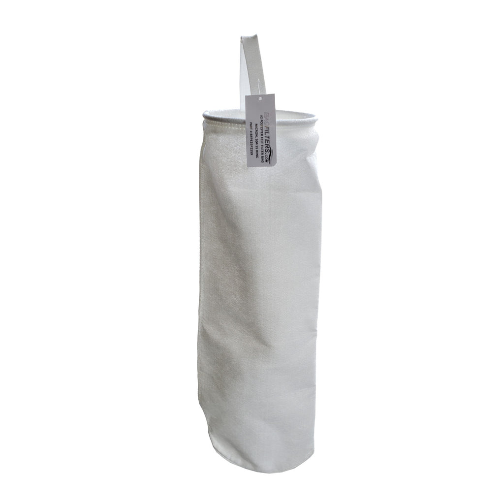 #2 Size 200 Micron Polyester Felt Liquid Filter Bags, Stainless Steel Ring