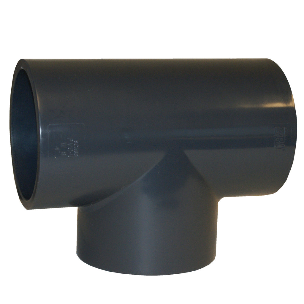ERA Sch 80 PVC Straight Tee, 4 Inch Socket Connect