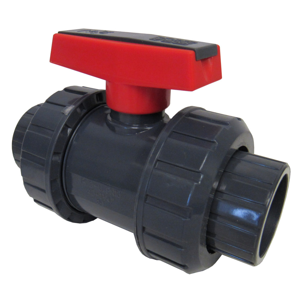ERA Sch 80 PVC True Union Ball Valve, 2 Inch Female NPT Thread