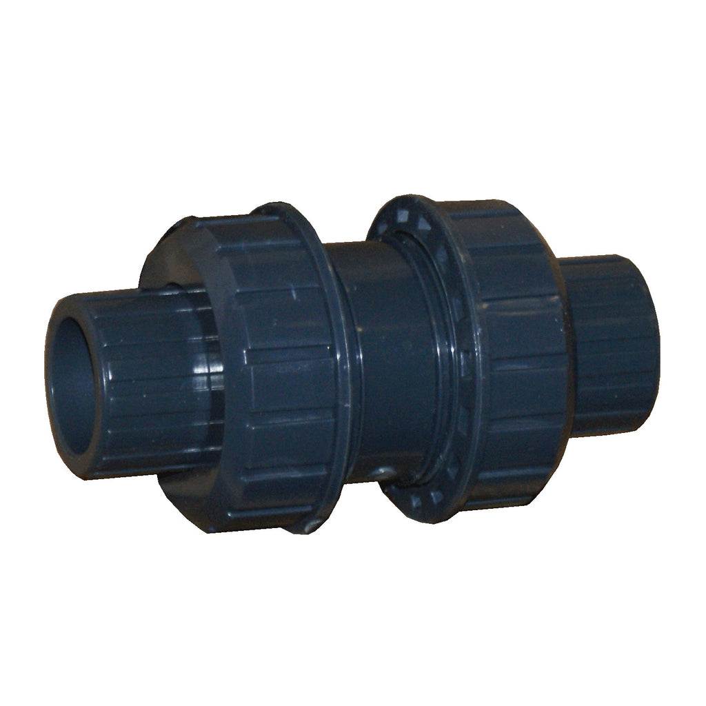 ERA Sch 80 PVC True Union Ball Check Valve - 1/2 Inch Socket Connection