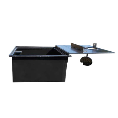 WELL VAULT - 24 X 24 X 10 INCH, LOCKING LID, WATER RESISTANT - A0717-724VWB