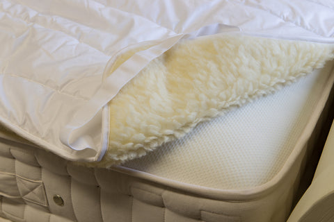 Wool Pile washable mattress topper
