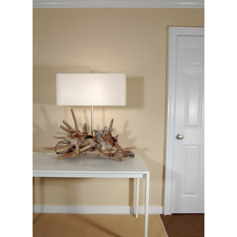 Large Scale Driftwood Table Lamp, Composition #44