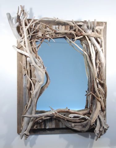 Driftwood Mirror/ Composition # 15