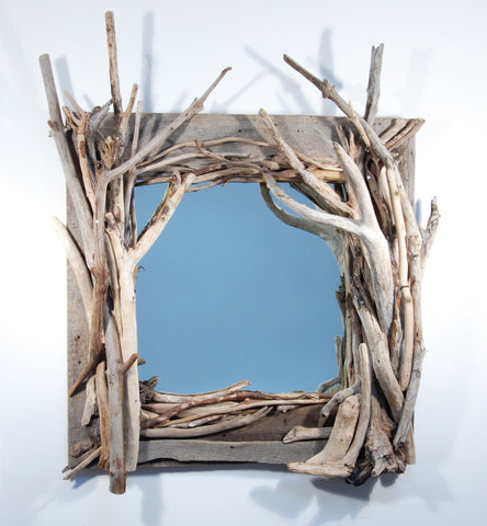 Driftwood Mirror/ Composition # 16